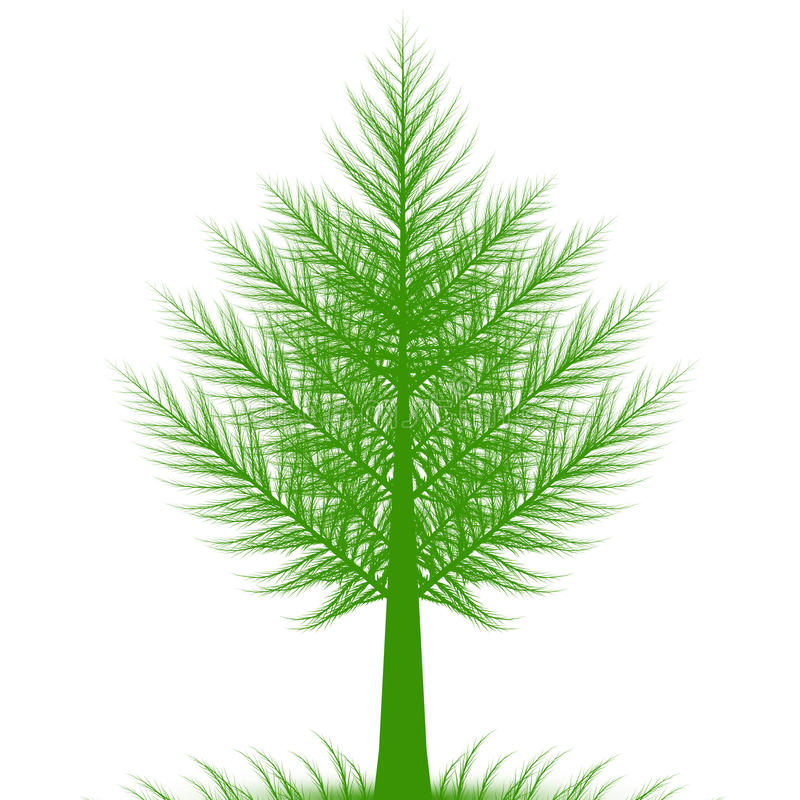 Albero di pino astratto illustrazione vettoriale