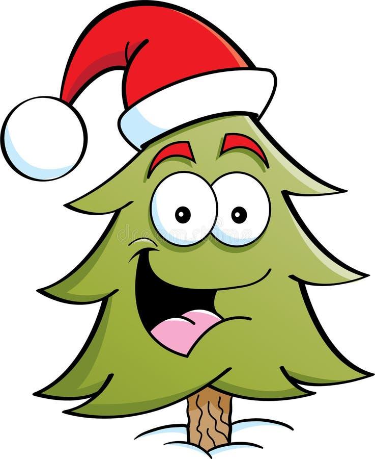 Albero di pino Santa illustrazione di stock