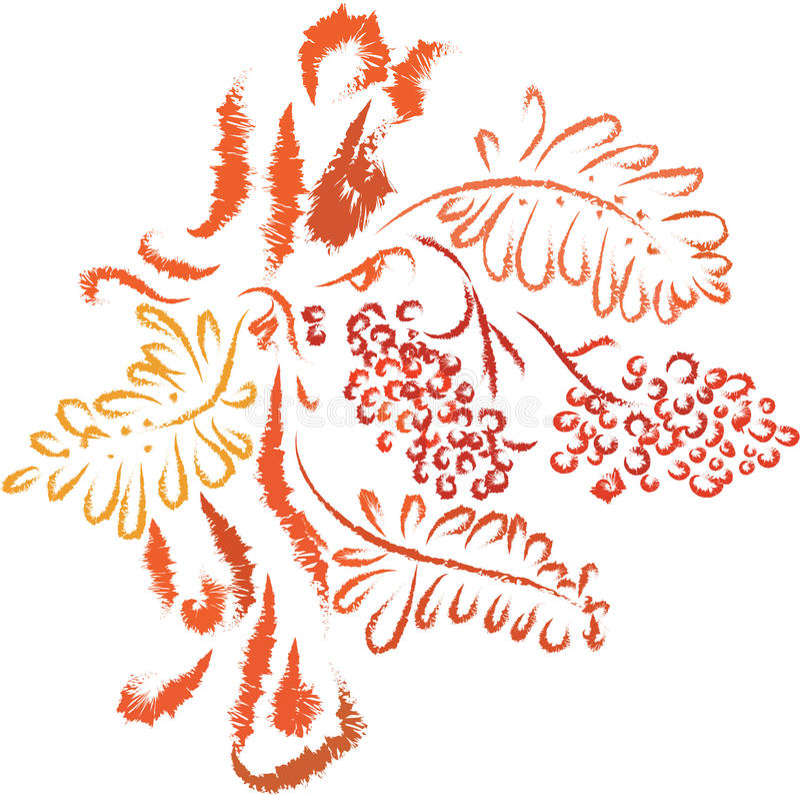 Albero di sorba di autunno immagine stock