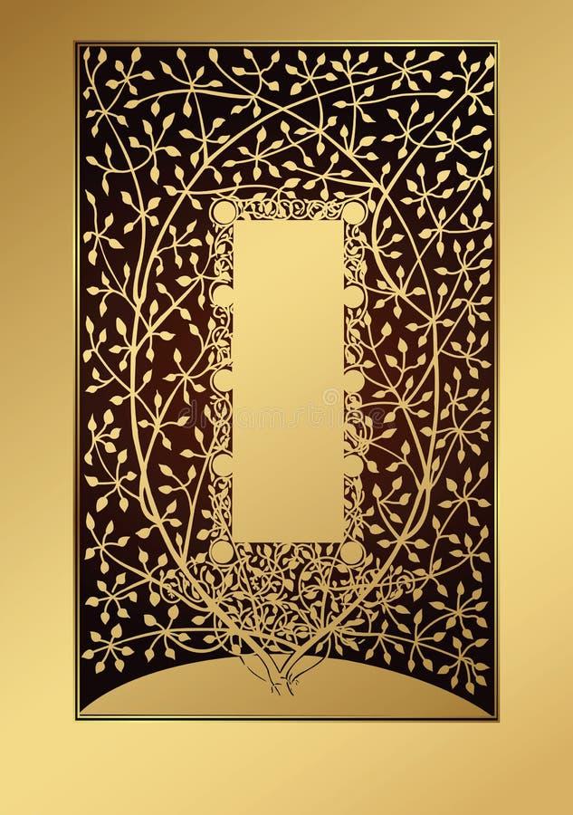 Albero dorato illustrazione di stock