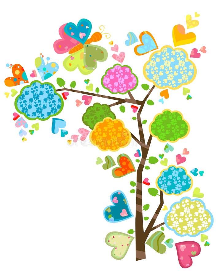 Albero e farfalle di amore royalty illustrazione gratis