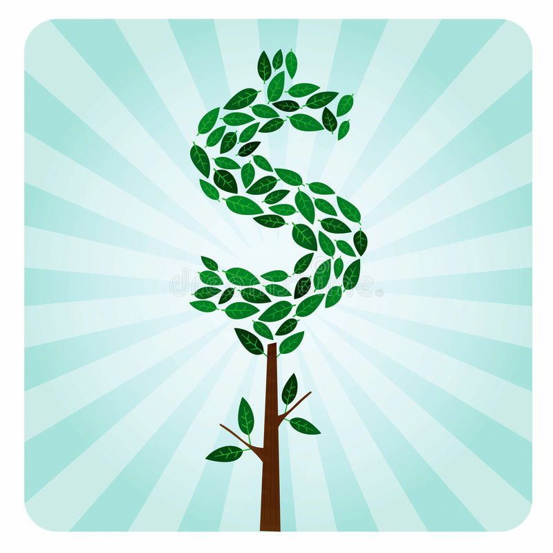 Albero etico dei soldi illustrazione vettoriale