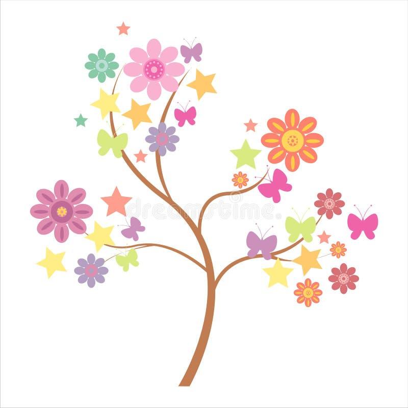 Albero floreale royalty illustrazione gratis