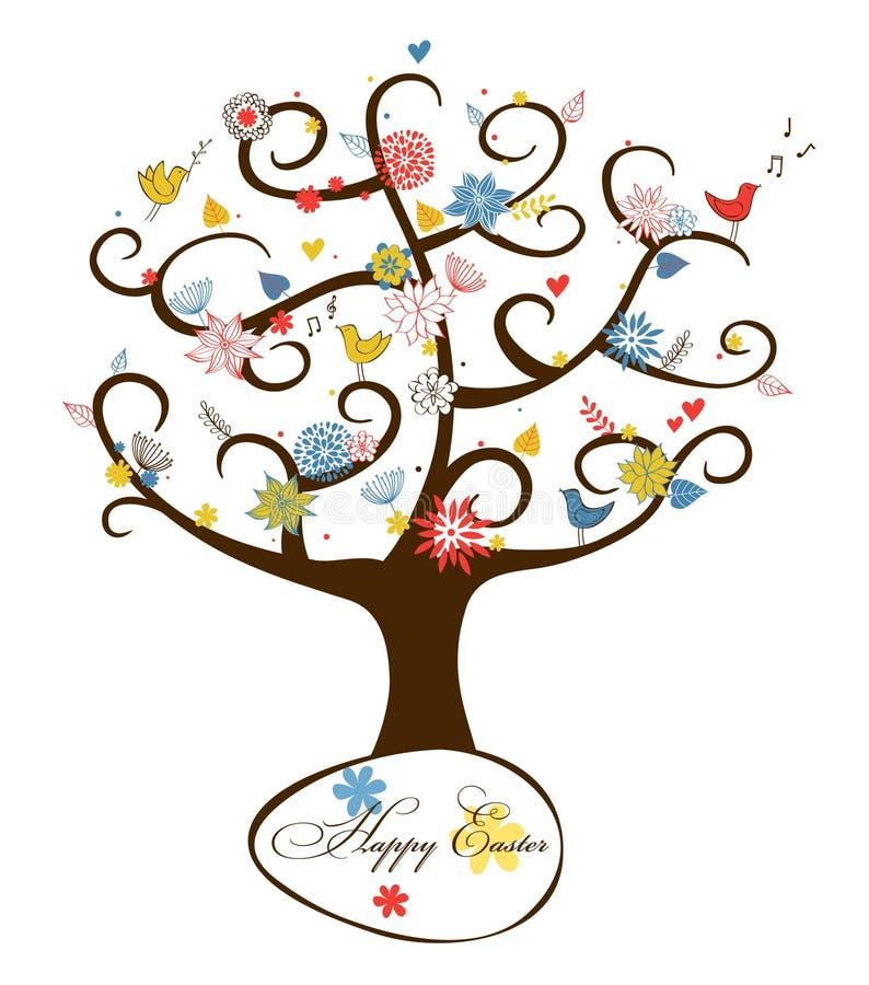 Albero floreale di Pasqua royalty illustrazione gratis