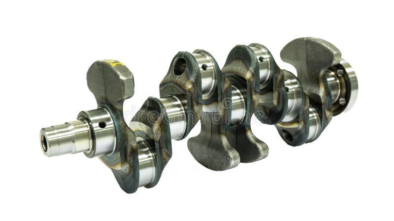 Albero a gomito d'acciaio per un motore a combustione interna a quattro tempi immagini stock libere da diritti