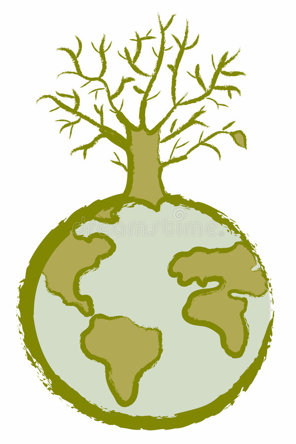 Albero guasto del globo illustrazione vettoriale
