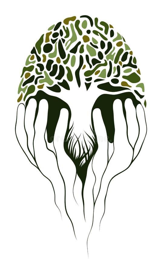 Albero in mani royalty illustrazione gratis