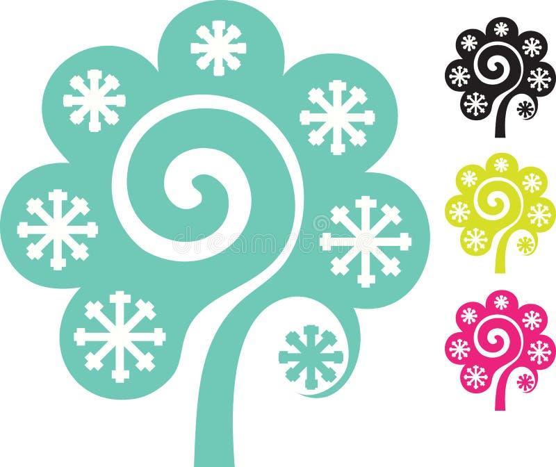 Albero moderno del wintere immagini stock libere da diritti
