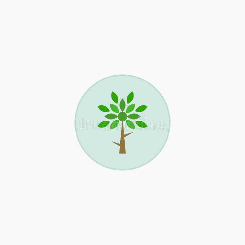 Albero piante icona Illustrazione di vettore ENV 10 illustrazione vettoriale