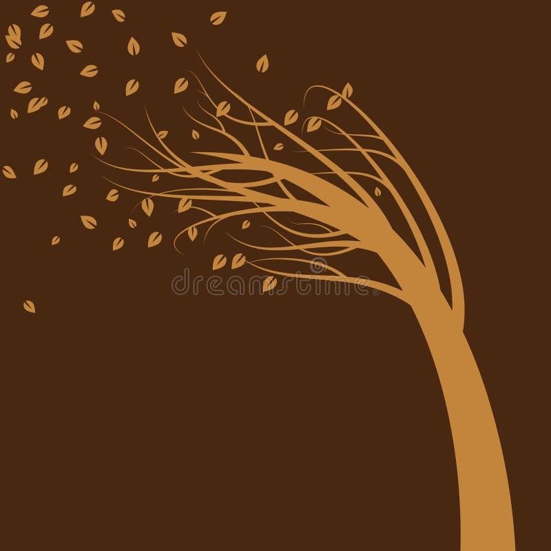 Albero saltato vento royalty illustrazione gratis