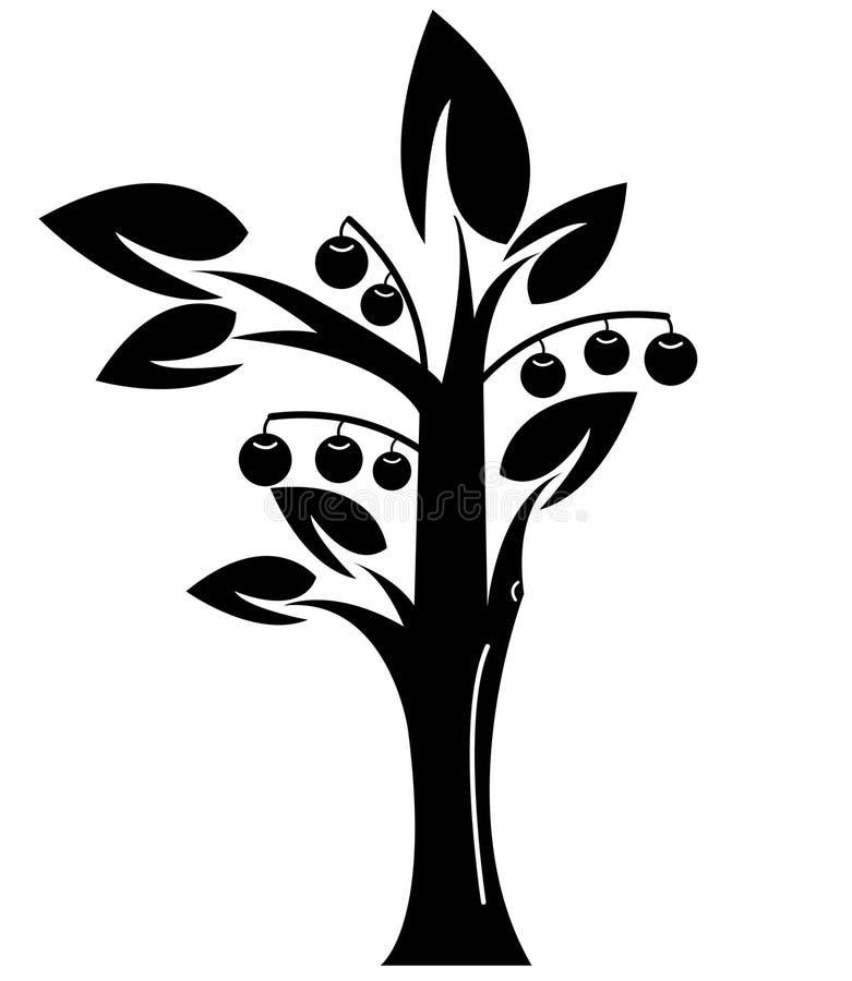 Download Albero semplice decorativo illustrazione di stock. Illustrazione di rimboschimento - 55361828