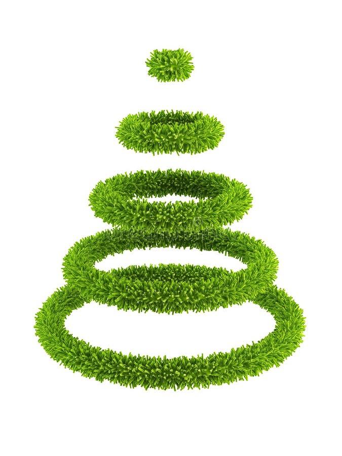 albero simbolico del nuovo anno 3d illustrazione di stock
