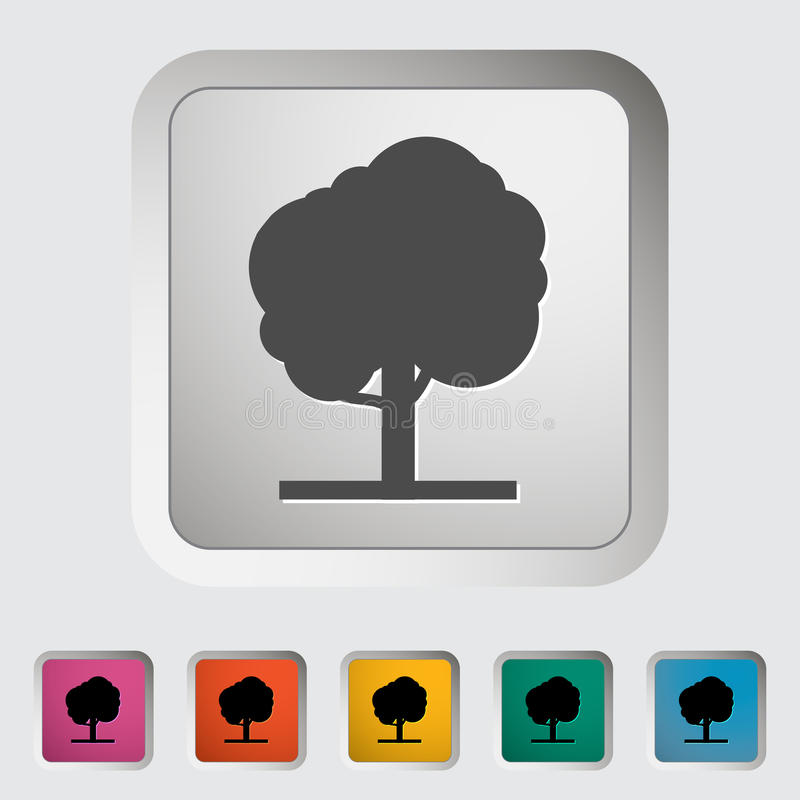 Albero Singola icona illustrazione vettoriale