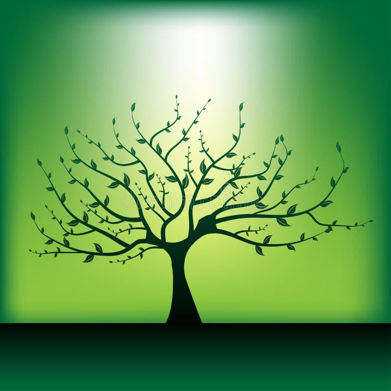 albero solitario illustrazione di stock