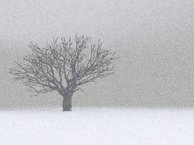 Albero solo di inverno royalty illustrazione gratis