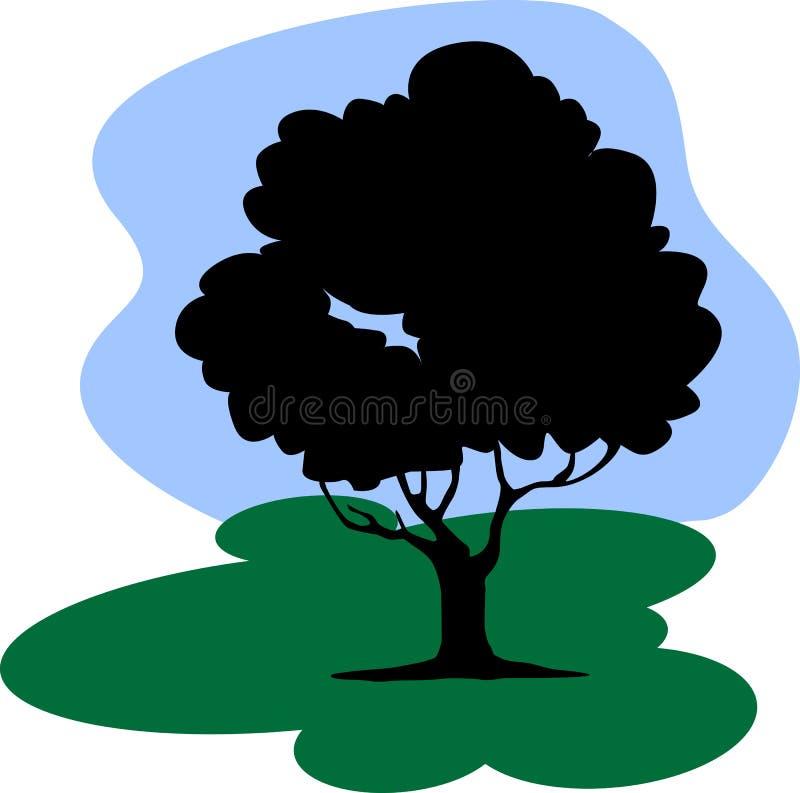 Albero sotto il cielo royalty illustrazione gratis