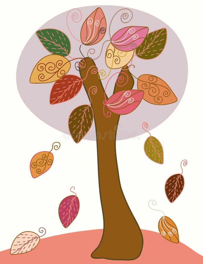 Albero stagionale astratto di autunno royalty illustrazione gratis