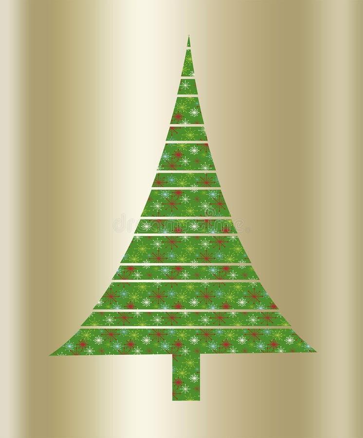 Albero verde di Natale illustrazione di stock