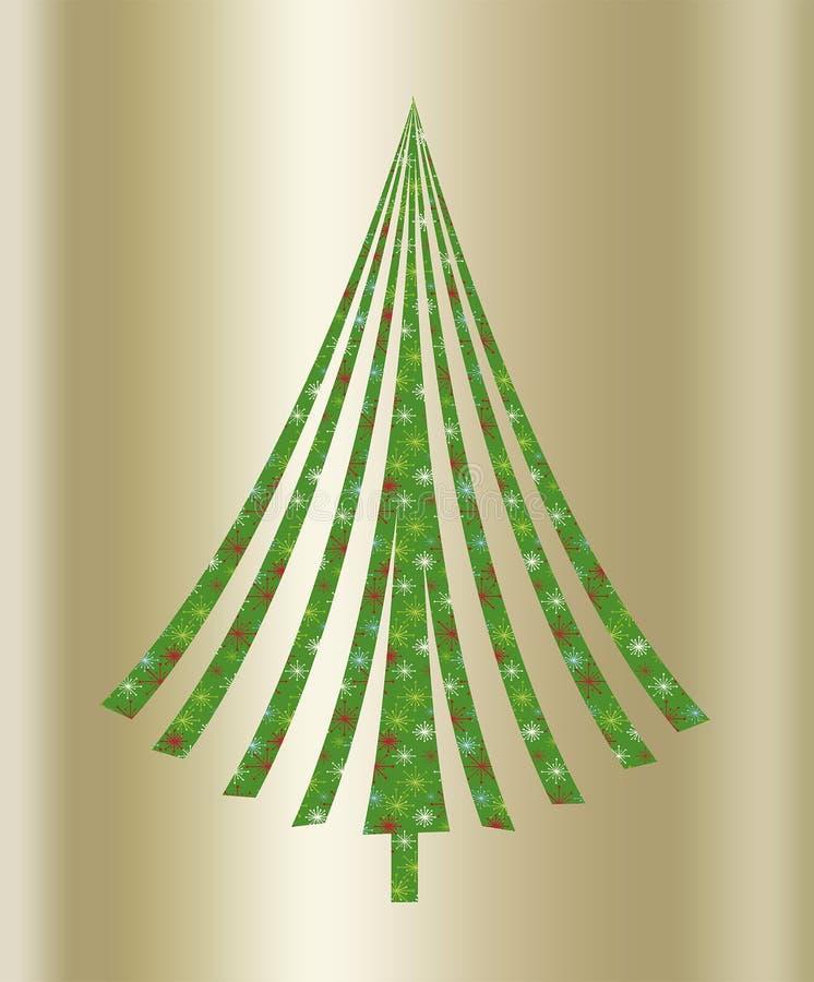 Albero verde di Natale illustrazione vettoriale