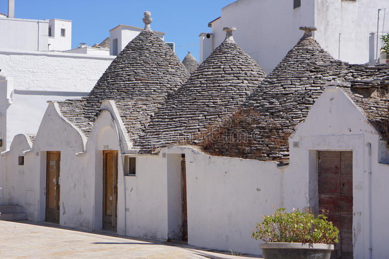 Alberobello stockbild
