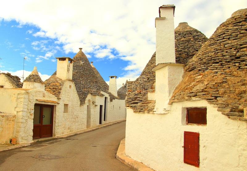 Alberobello in Apulia, Italië royalty-vrije stock foto's