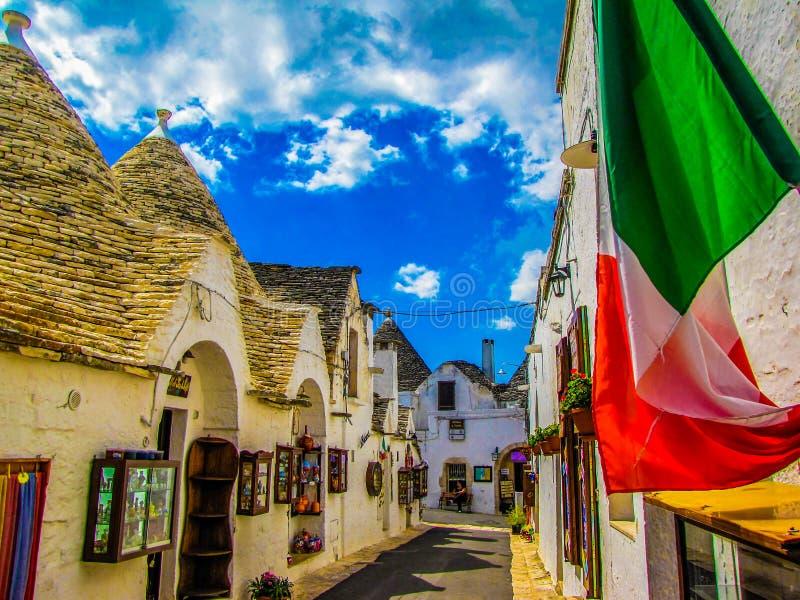 Alberobello, Apulia, Itali? stock foto's