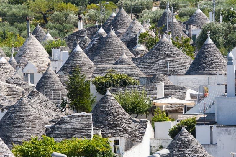 Alberobello (Apulia, Italien): Die Stadt von trulli lizenzfreies stockfoto