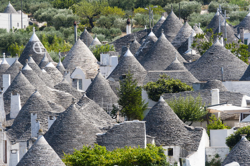 Alberobello (Apulia, Italy): Panorama royalty free stock photography