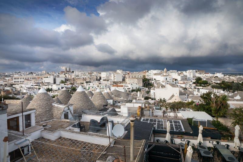 Alberobello, city if trulli, Puglia, in Italy stock image