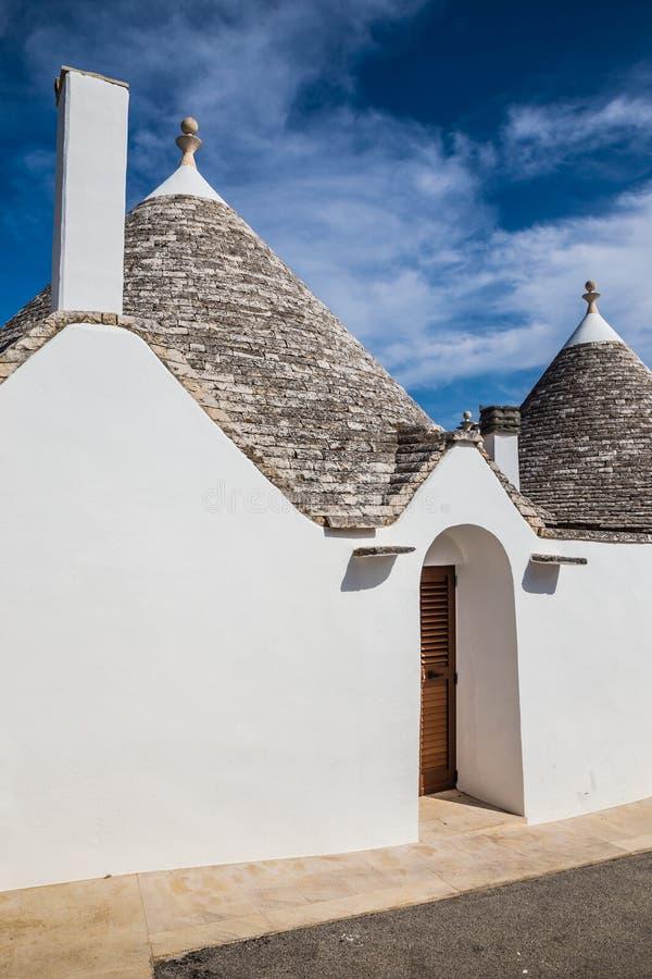 Alberobello con las casas de Trulli - Apulia, Italia imagen de archivo