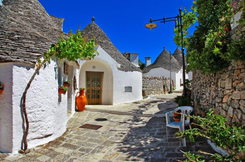 Alberobello houses royalty free stock image