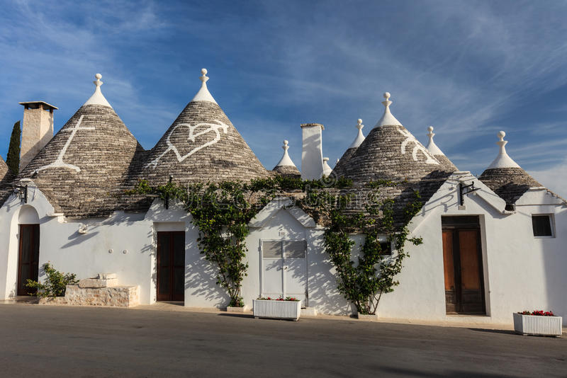 Alberobello, Italien stockfotos
