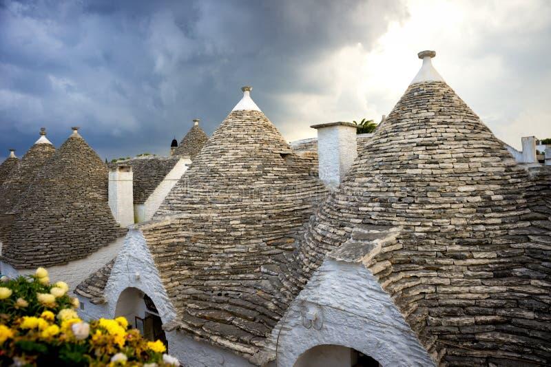 alberobello Italy Piękny miasteczko Alberobello z trulli mieści s obrazy royalty free