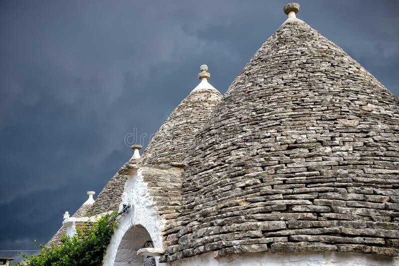 alberobello Italy Piękny miasteczko Alberobello z trulli mieści s zdjęcia royalty free
