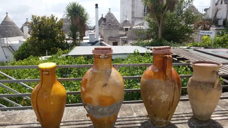 Alberobello jar royalty free stock photography