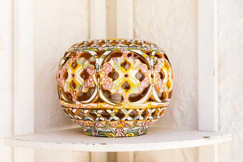 Alberobello pottery stock photo