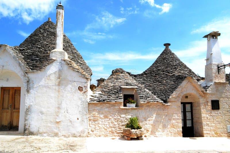 Alberobello, Puglia, Italië stock foto's
