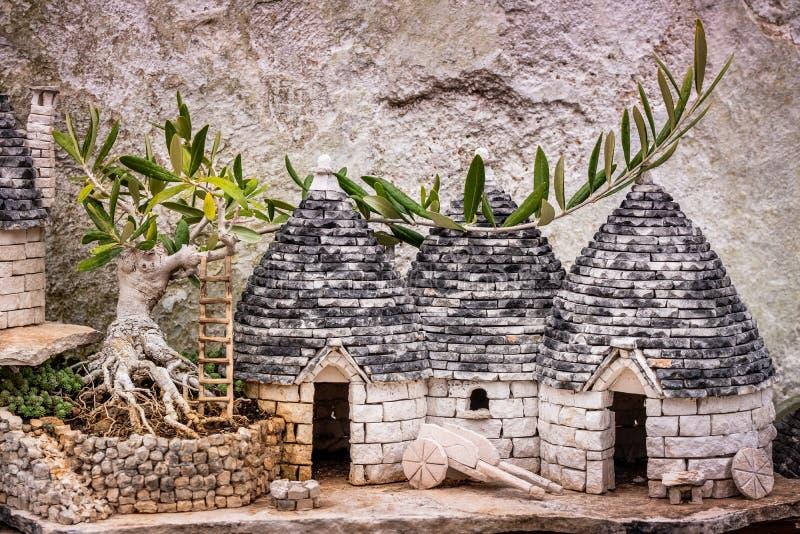 Alberobello Puglia - Italien arkivfoto