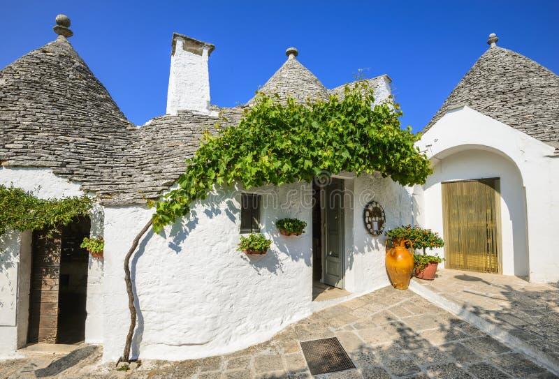 Alberobello, Puglia, Italz imagem de stock