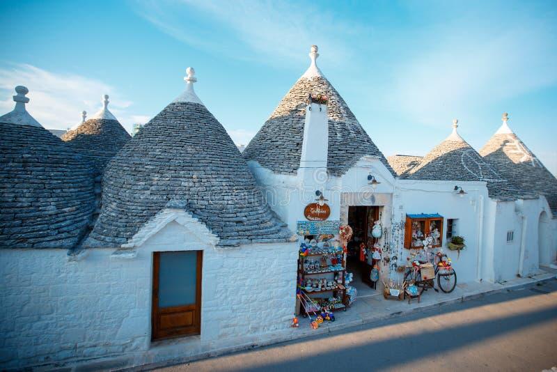 ALBEROBELLO, Traditional trulli houses in Alberobello, Italy. ITALY - June 7, 2015 stock image