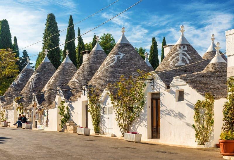 Alberobello Trulli, Apulia, Puglia, Italien fotografering för bildbyråer