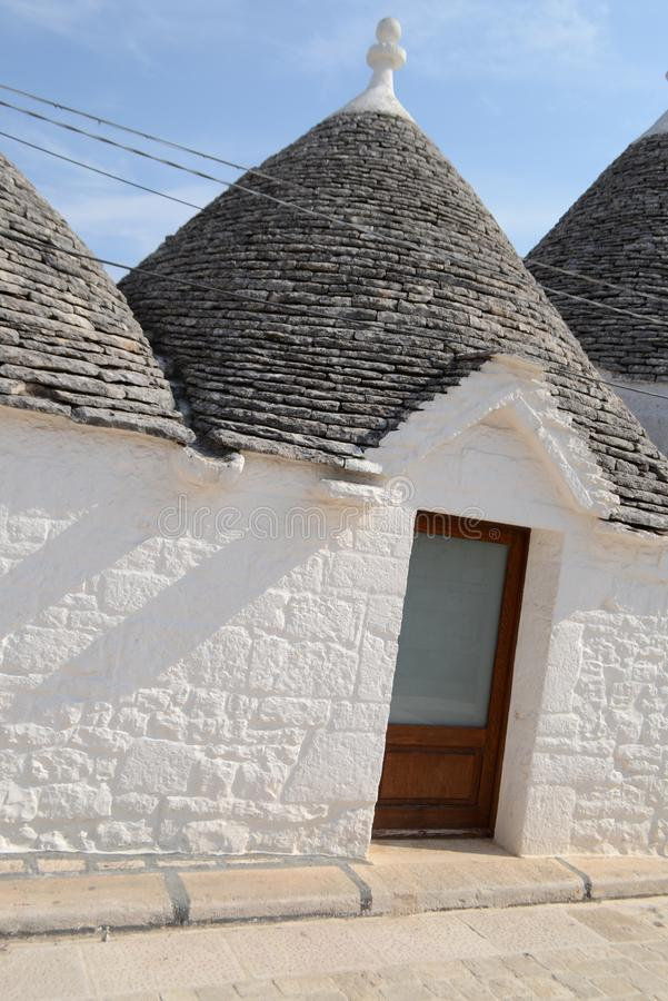 Alberobello - Trulli city in Apulia Italy royalty free stock image