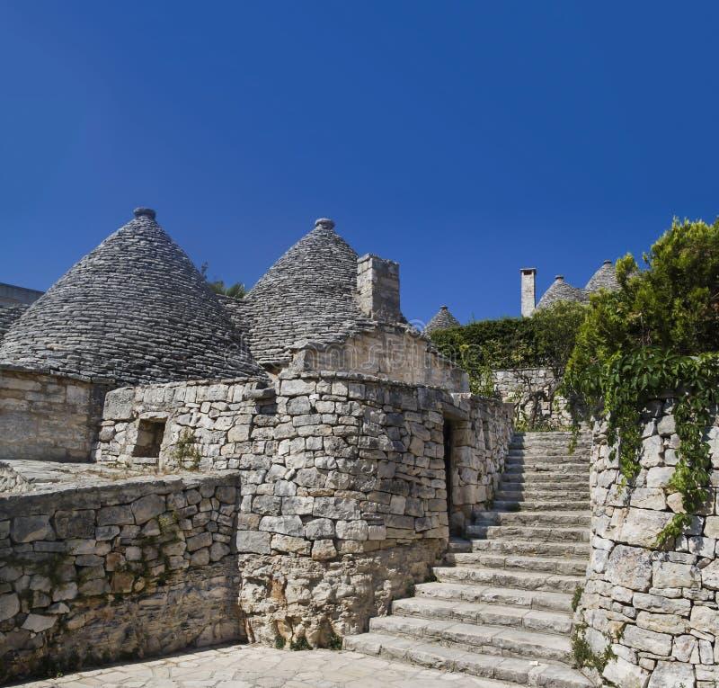 Alberobello trullo arkivbilder