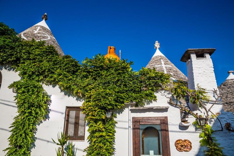 Alberobello Z Trulli domami - Apulia, Włochy obraz stock