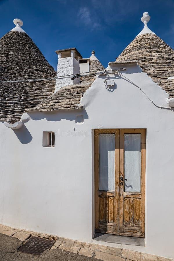 Alberobello Z Trulli domami - Apulia, Włochy zdjęcia royalty free