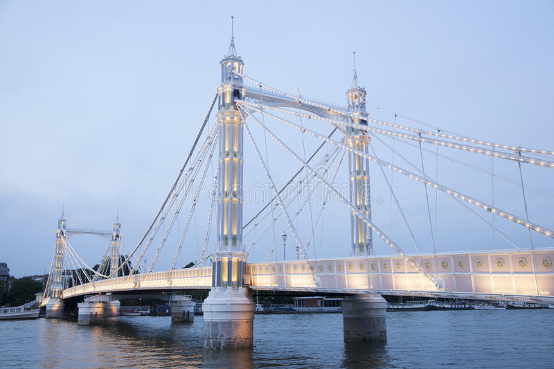 Albert Bridge ; Chelsea ; Londres photos libres de droits