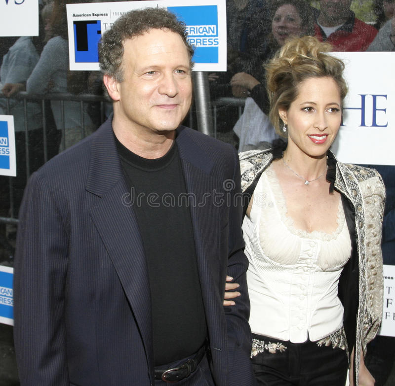 Albert Brooks and wife Kimberly Shlain. Actor, director, filmmaker Albert Brooks and wife, artist Kimberly Shlain, arrive on the red carpet for the premiere of stock photos