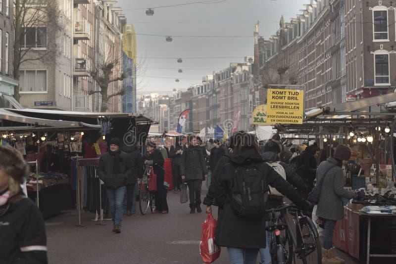 Albert Cuyp Market Amsterdam. The Albert Cuyp Market is a street market in Amsterdam stock photos
