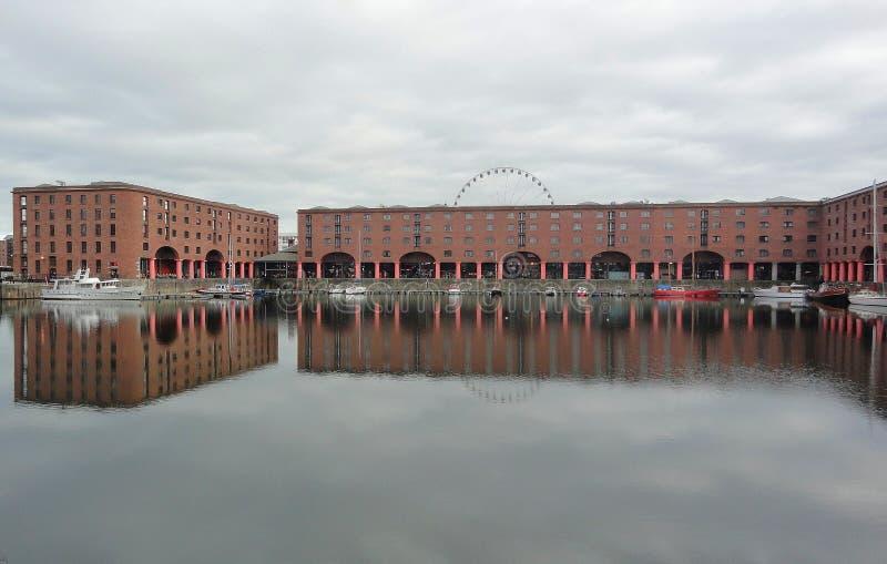 Albert Dock fotografering för bildbyråer