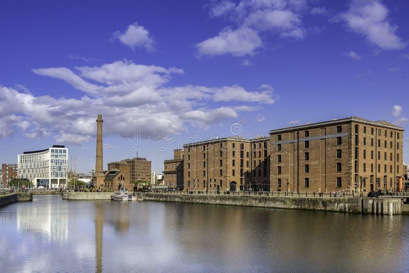 Albert Dock op de waterkant van Liverpool royalty-vrije stock foto's